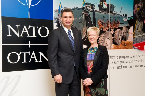 Visit to NATO by Vitali Klitschko, Head of the UDAR Political party in Ukraine