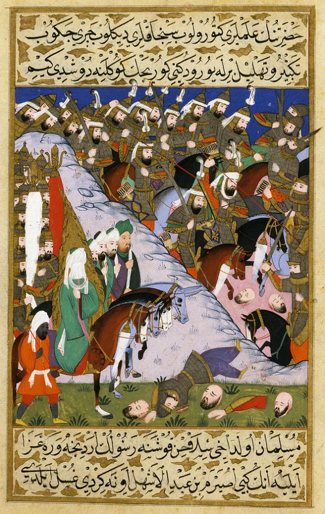 Prophet_Muhammad_and_the_Muslim_Army_at_the_Battle_of_Uhud,_from_the_Siyer-i_Nebi,_1595